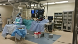 Preparations for angiogram at Health City Cayman Island