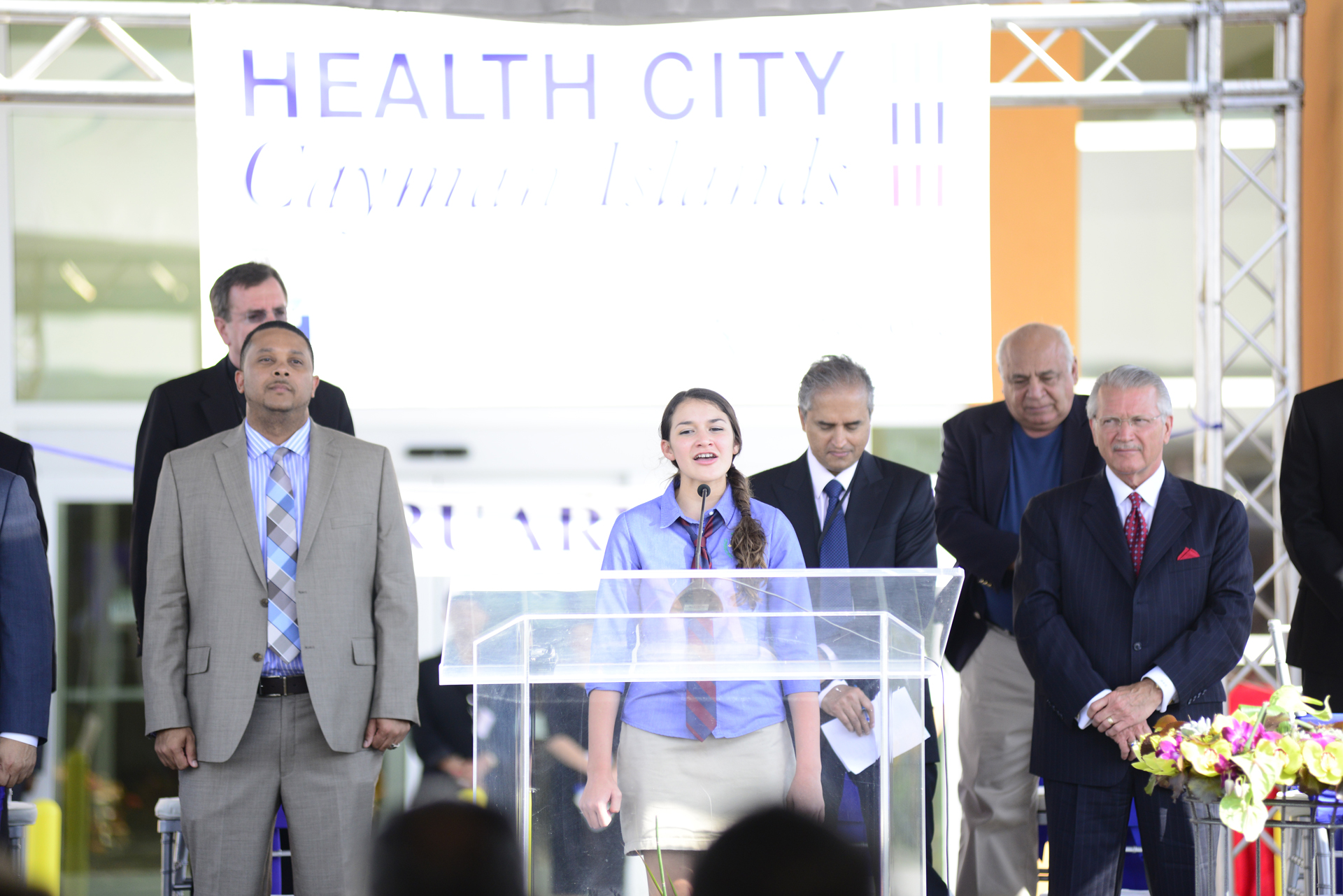 Holly Thompson, Health City Cayman Islands Grand_Opening