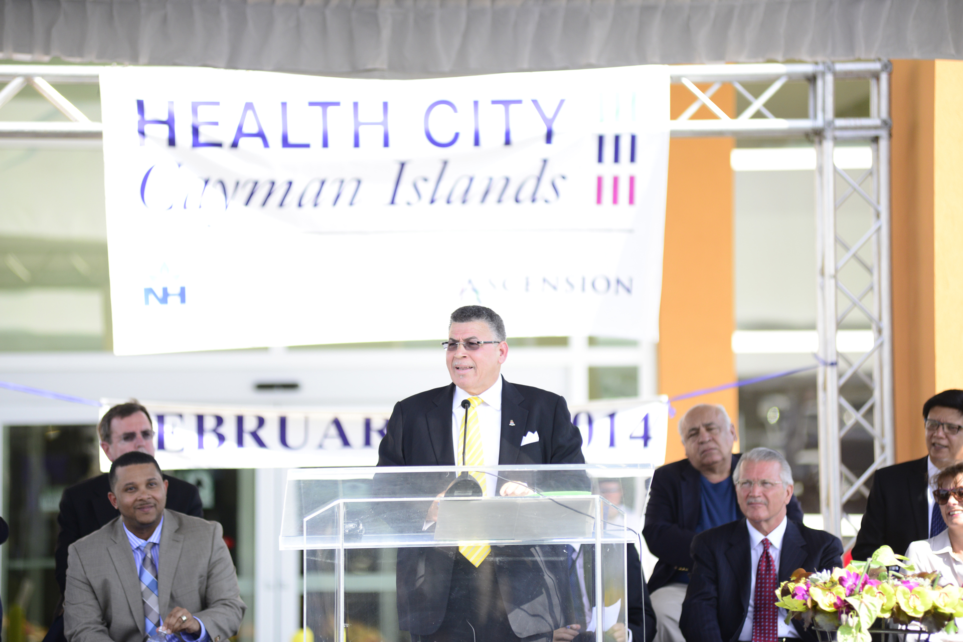 McKeeva Bush Holly at Health City Cayman Islands Grand Opening