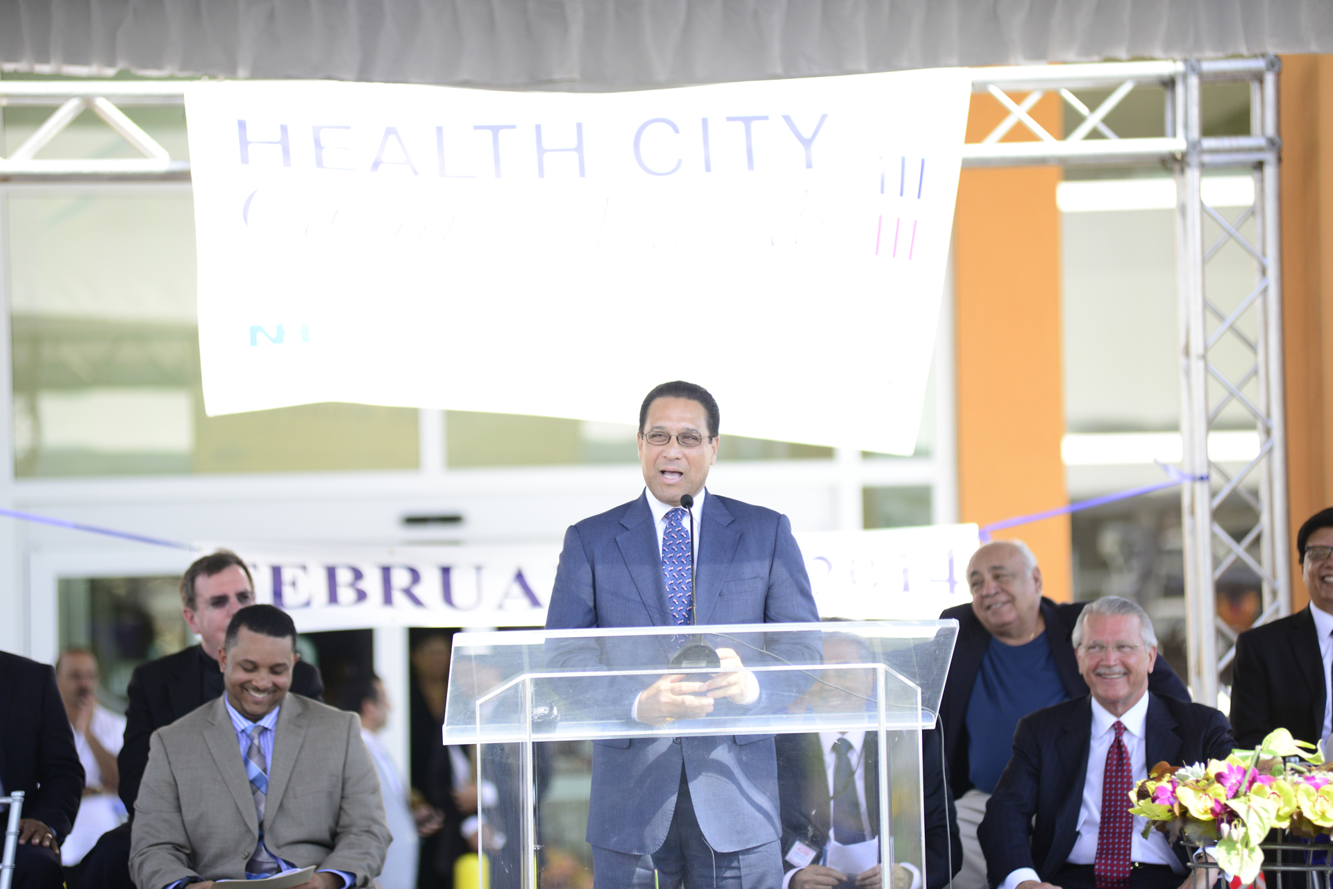The Premier Hon Alden McLaughlin at Health City Cayman Islands Grand Opening