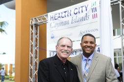 David Houle and Shomari Scott at Health City Cayman Islands