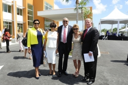 Deputy Premier Moses Kirkconnell, Hon Osbourne Bodden and supporters of Health City Cayman Islands