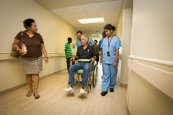 Patients in hallway at Health City