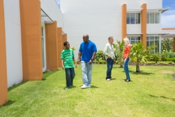 Patients in lawn at Health City