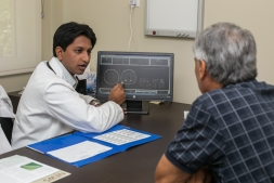 Dr Sandeep consulting male patient